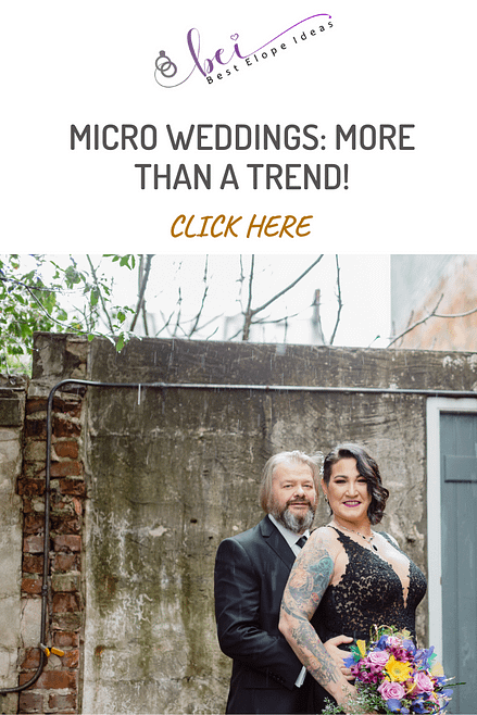 MICRO WEDDINGS: MORE THAN A TREND!