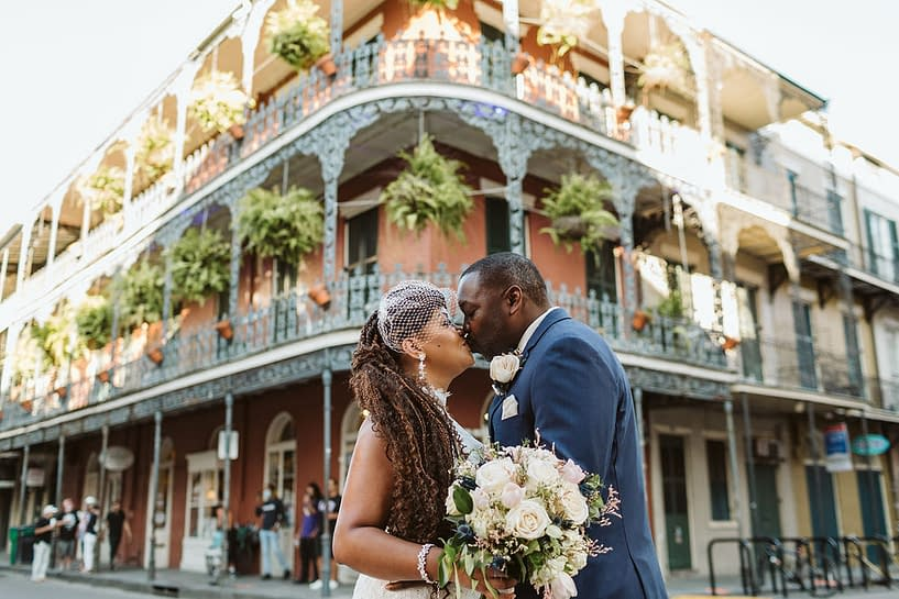 elope to new orleans bouquet
